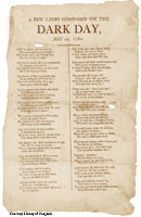 Dark Day poem from 1780, click here for larger image