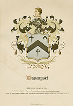 Davenport Coat of Arms, click here for larger image