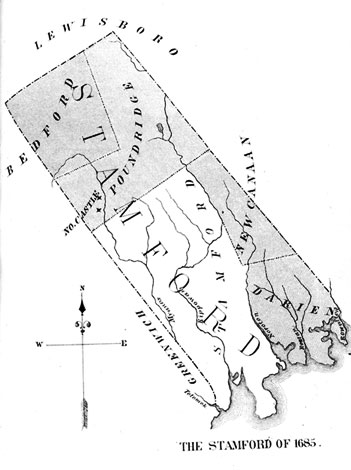 map of Stamford boundaries, 1865