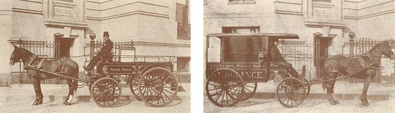 Police Ambulance and Wagon