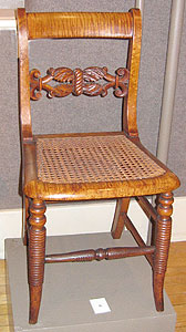 American Empire Curly Maple Side Chair