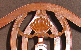 Federal Mahogany Dining Chair, detail