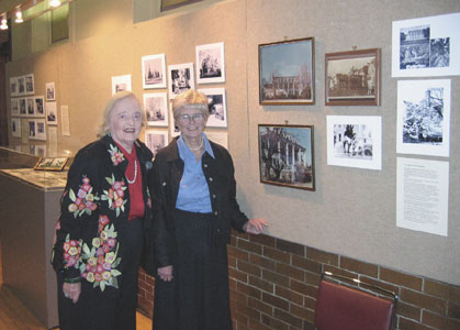 Mrs. Coley and Society member Anne Ramsey