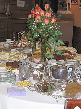 the table at the Victorian Tea