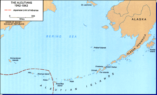 Aleutian Islands 1942 to 1943