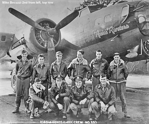 Rosie' Riveters flight crew, Mike Bocuzzi second form left, top row
