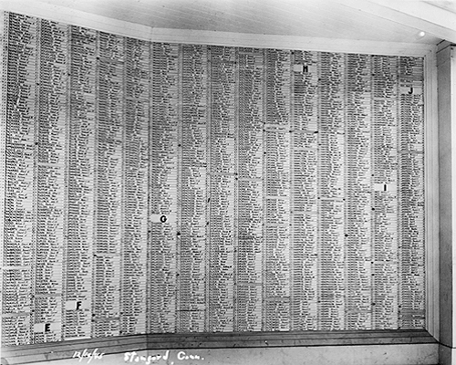 photograph of a section of the service roll, Connecticut State Library