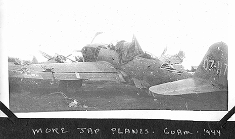 wrecked Japanese planes, Guam 1944