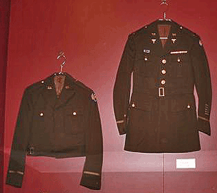 at left: Army Air Corps Jacket worn by Roger Preu