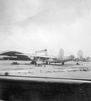 airfield and hangar