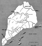 Iwo Jima battle map, click here for larger size