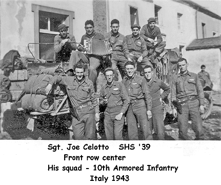 Joe's sqad, 10th Armored Infantry, Joe a center front