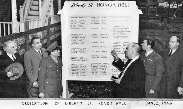 Dedication of Liberty St. Honor Roll, January 2, 1944