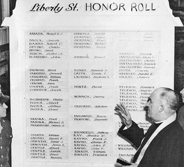 Dedication of Liberty St. Honor Roll, enlargement of panel