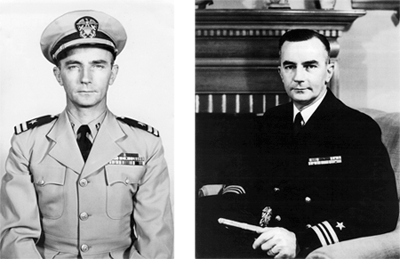 Official Navy photograph, 11 May 1951portrait and 01 March 1956