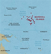 Marshall Islands, click here for full size map of the islands
