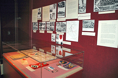 section of display from the European Theatre of War