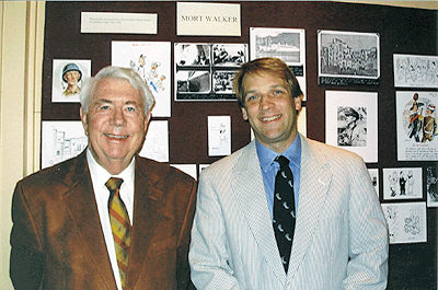 Mort Walker and Executive Director Tom Zoubek at exhibit opening, click for more photos