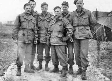 George Reiss with medics in Europe