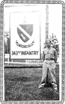 George Reiss at 343rd Infantry Base