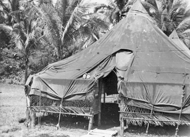 Medic group in the Philippines, tent