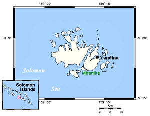 Russell Islands map