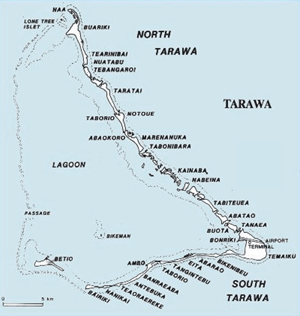 Betio Island Map