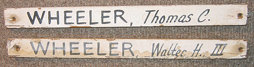 the Wheeler Brothers' slats