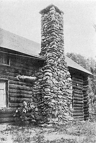 THE SUBSTANTIAL AND ATTRACTIVE CHIMNEY OF THE CABIN