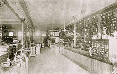 the right side of the ground floor of Lockwood & Palmer's store