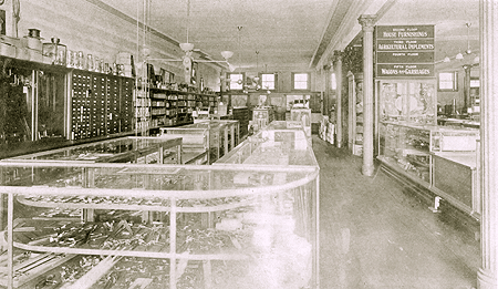 the left side of the ground floor of Lockwood & Palmer's store