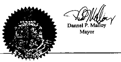 seal and signature of the mayor