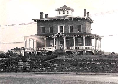 Franklin Wardwell Home prior to demolition in 1957