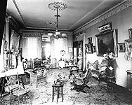 parlor in 1900 - click here for larger image