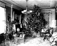 parlor, Christmas 1900 - click here for larger image