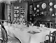dining room in 1900 - click here for larger image