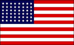 Flag with 48 stars, click here for website on the US flag