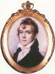 Anson Dickinson - miniature portrait