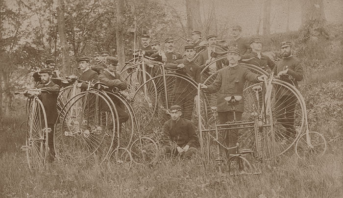 Highwheel bicycles: Wheelmen bicycle club, 1880s - no details available