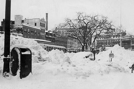 Blizzard of December 26, 1947, Stamford downtown