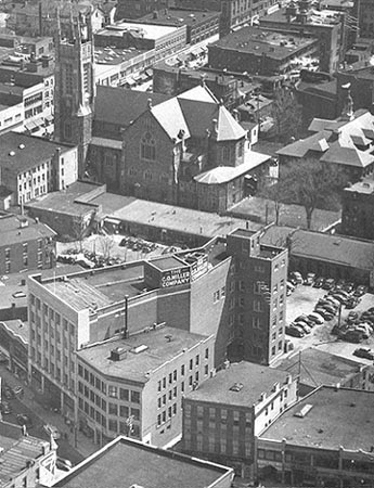 1948 aerial view of Bank Street building