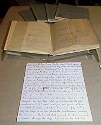 Noah Webster Hoyt's diaries, click here for record group 16