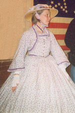 Jennifer Peters as reenactor during the opening of the civil war exhibit