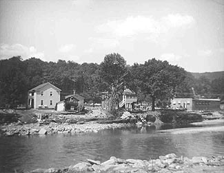 ruined buildings near Beacon Falls