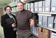 Linda Baulsir & Irwin Miller in the Archives -  click here for story