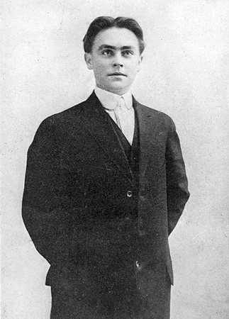 Harold June as student in Stamford High School 1906-1907