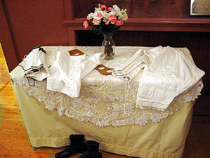 Samples of antique underpinnings that every woman would have worn.