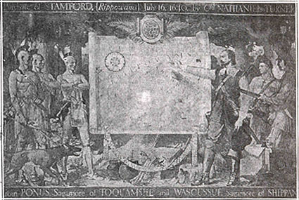 the mural depicting the purchase from the Indians
