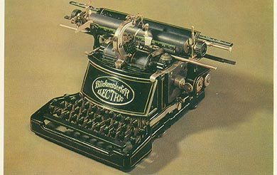 postcard of electric typewriter