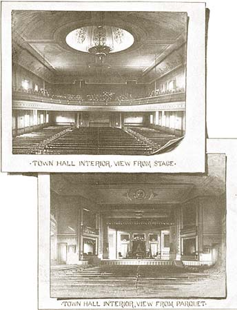 photos of the main hall on the third floor, from the book, click here for enlarged views